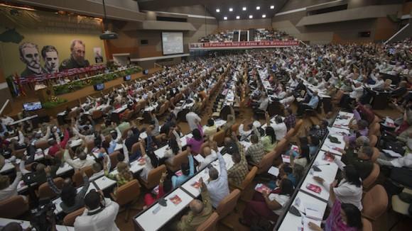 En plenario, el VII Congreso del Partido. Foto: Ismael Francisco/ Cubadebate