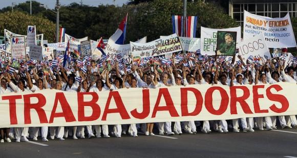 Primero de Mayo en La Habana. Foto: Ladyrene Pérez/ Cubadebate