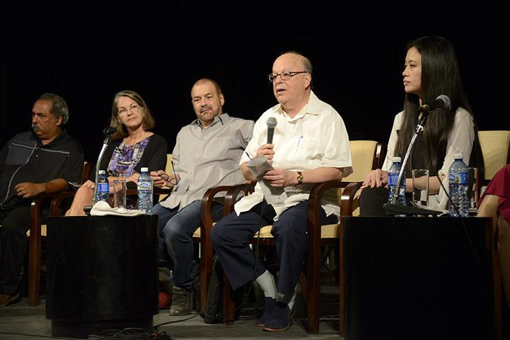 Momentos de la conferencia de prensa (Foto: Néstor Martí)