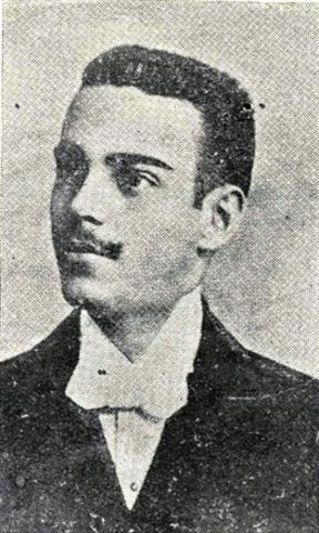 Pedro Estévez Abreu, en 1895