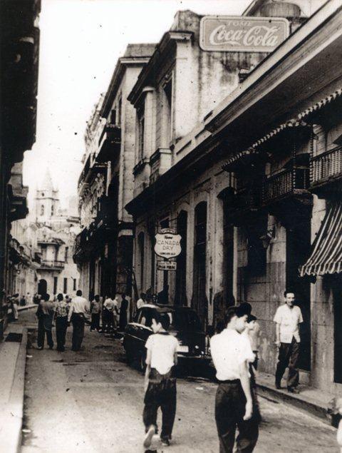 Calle Peña Pobre, a mediados del siglo XX
