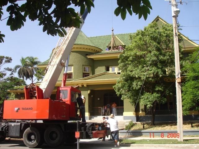 Casa de las Tejas Verdes, obras de restauración, 2009