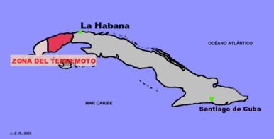 Zona azotada por el Terremoto de Vuelta Abajo de 1880