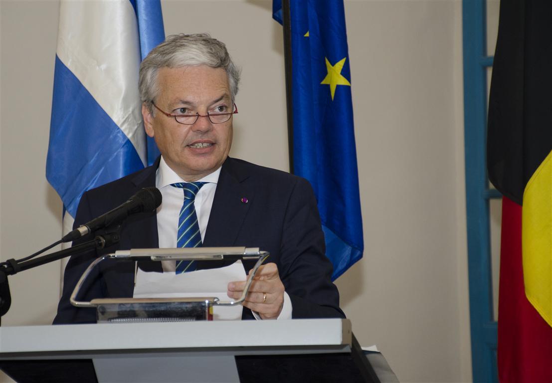 El Excelentísimo Señor Didier Reynders, Canciller del Reino de Bélgica