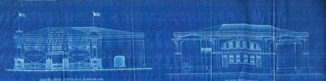 Fachada y frente marírimo, planos de 1909