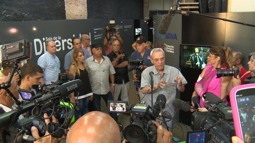 """El Historiador de la Ciudad, Doctor Eusebio Leal Spengler, en la inaguración de la muestra """"Fidel"""""""