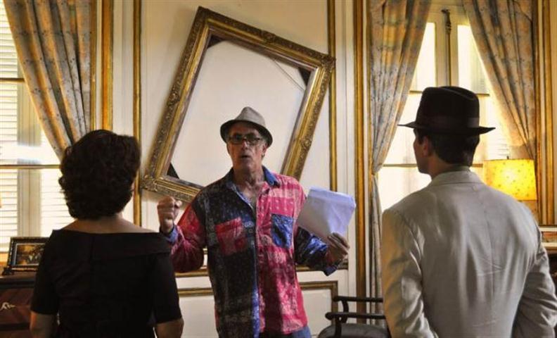 """Arturo Santana en la filmación de """"Bailando con Margot"""""""