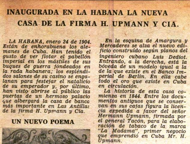 """En revista """"Carteles"""", 5 de octubre de 1958, p. 87"""