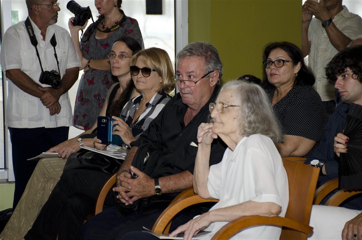 Entre el público, Fina García Marruz y José María Vitier