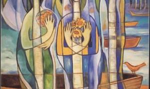 """""""Las Palmas son novias"""", Ileana Ferrer Govantes, Colección José Martí / Óleo (60"""" X 48"""")"""