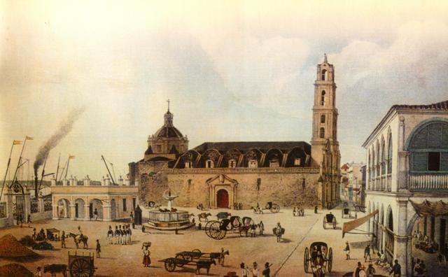 1-la fuente en la plaza, S. XIX
