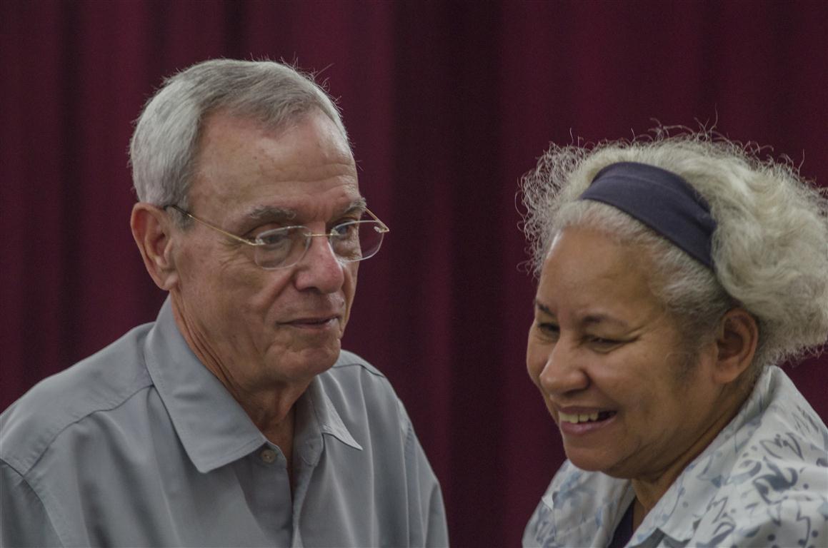 La Doctora Ana Cairo junto al Historiador de la Ciudad