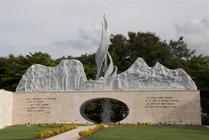 Monumento ubicado en la Plaza de la Patria