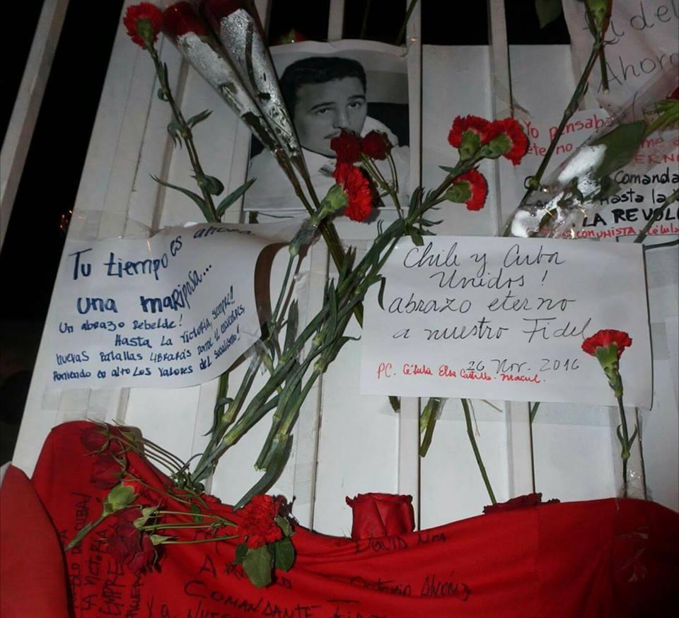 Muestras de solidaridad de los chilenos con Cuba