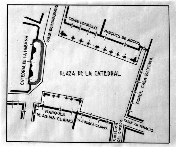 Plano de planta de la Plaza de la Catedral, 1936 (Small)