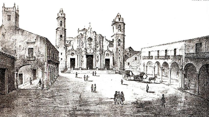 Plaza de La Catedral, siglo XIX