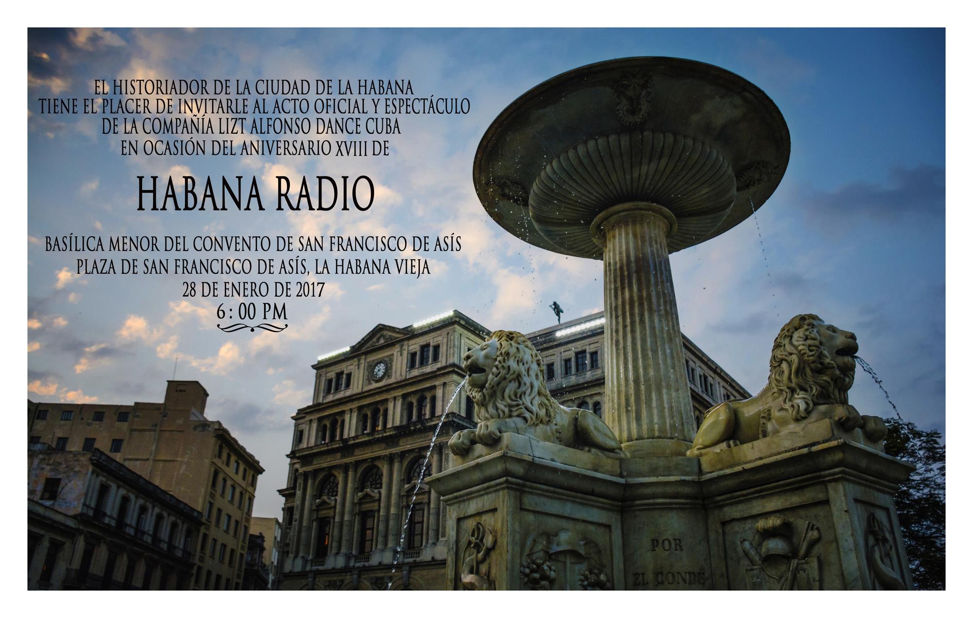 Invitación XVIII Aniversario de Habana Radio
