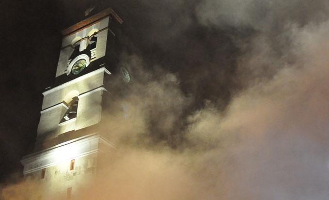 Imagen tomada en la rememoración del incendio de Bayamo / FOTO Rafael Martínez Arias