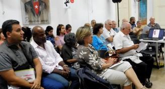 Participantes en la conferencia de prensa efectuada este lunes en la Casa de la Prensa (Foto: Yoandry Avila Guerra)