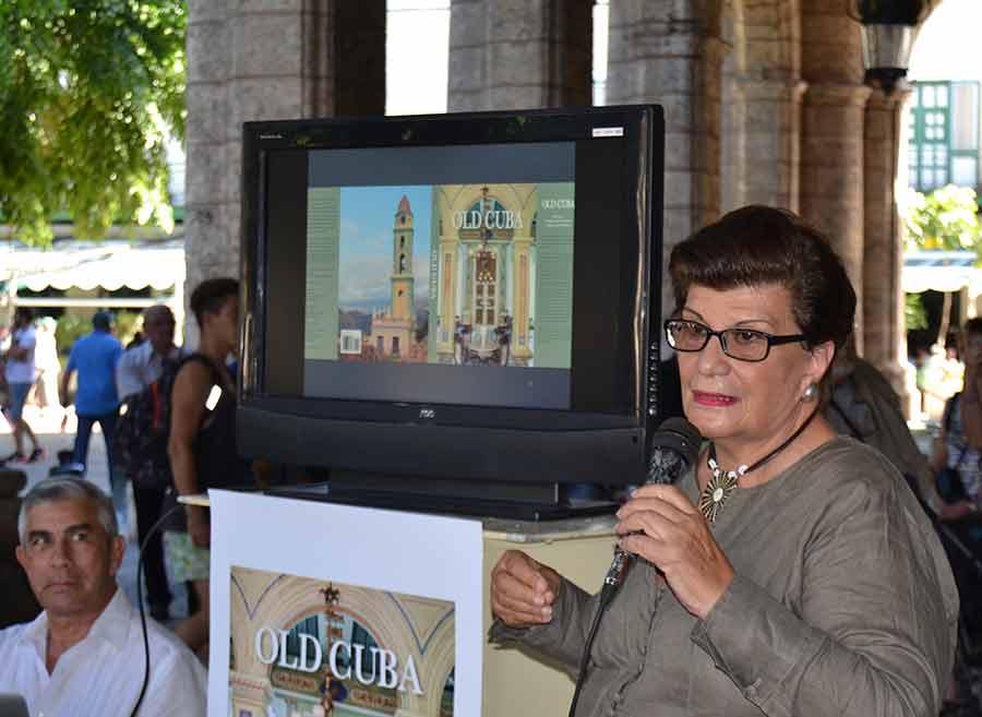 Alicia agradeció a Ediciones Boloña, de la Oficina del Historiador de La Habana, la posibilidad de presentar este libro en Cuba, en el cual tuvo que adaptarse a un perfil cerrado: 25 000 palabras y 180 imágenes