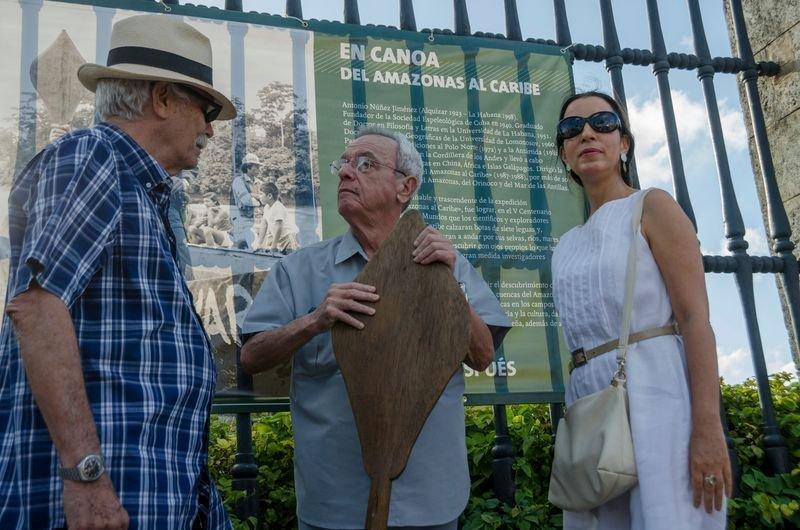 Ángel Graña, Eusebio Leal y Liliana Jiménez