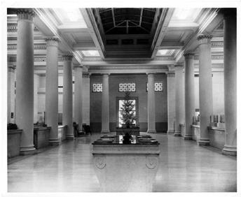 Interior del edificio, vista antigua