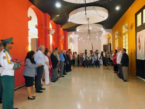 La ceremonia de condecoración con la Distinción Félix Elmuza, en la Casa del Alba Cultural, en La Habana (Foto: Yoandry Avila Guerra)