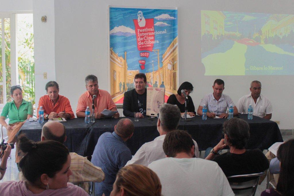 Jorge Perugorría, presidente del Festival Internacional de Cine de Gibara en conferencia de prensa