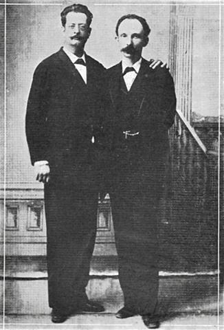 José Martí junto a Fermín Valdés Dominguez en Cayo Hueso, Estados Unidos 1894