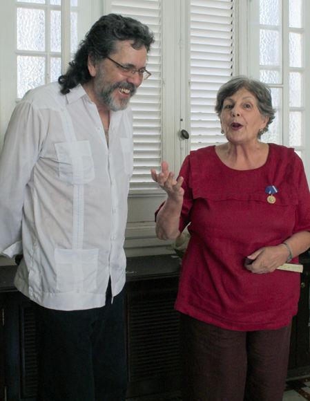 Luisa Campuzano rememora la etapa en la que fue profesora de Abel Prieto, entonces estudiante de Letras. Foto: Daylén Vega / Cubadebate.