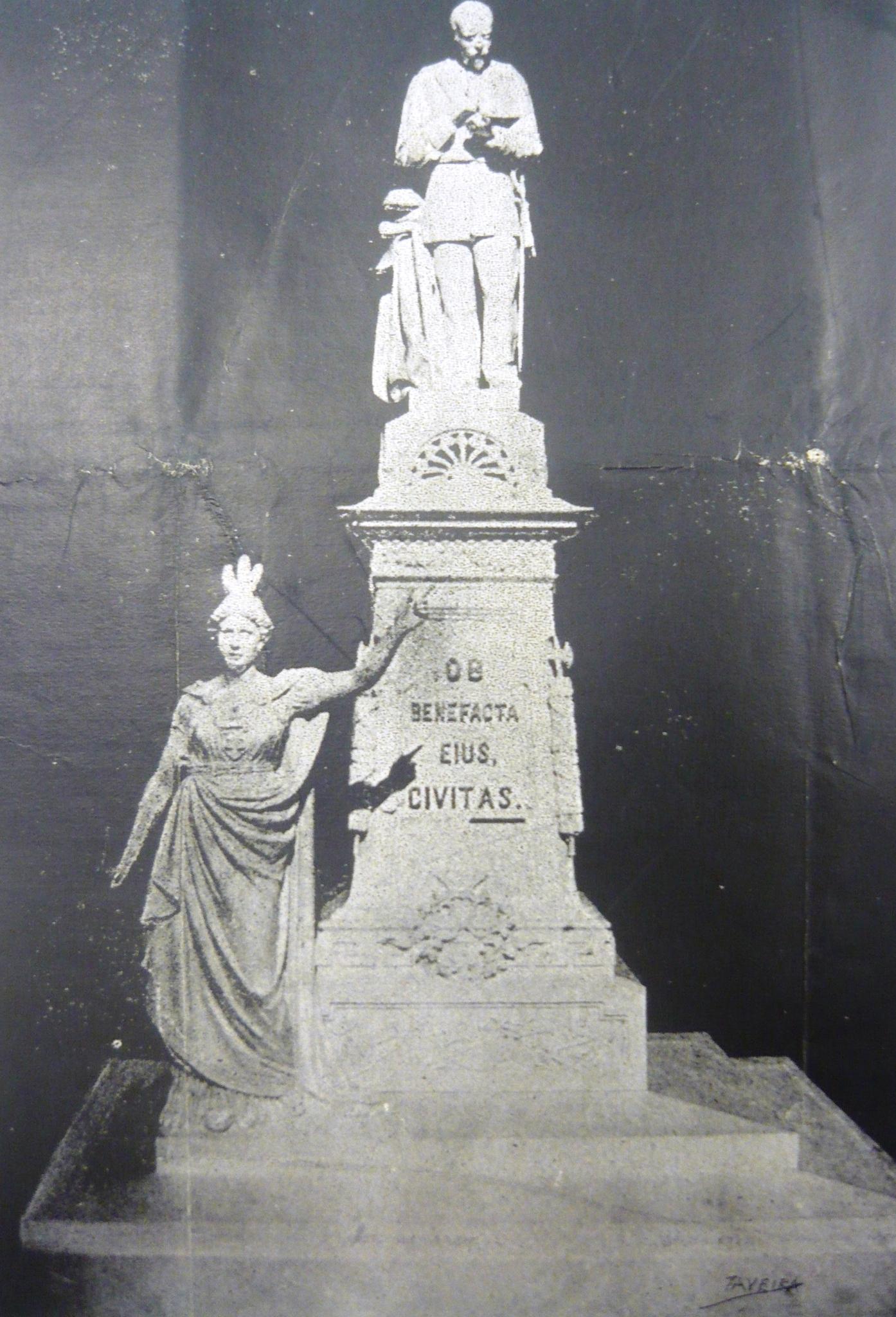Maqueta del primer proyecto del monumento a Albear, El Fígaro1894