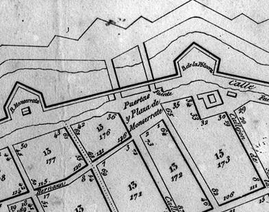 Fuente ubicada a un costado de la plazuela de Monserrate. Plano de 1841