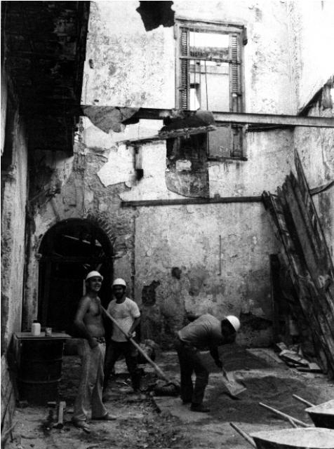 Mercaderes 116, años '80, antes de la restauración
