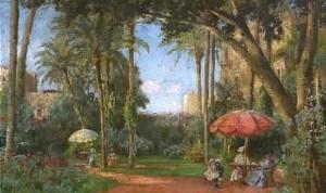 Jardín en el Cairo, Carl Wuttke (1849 - 1927)