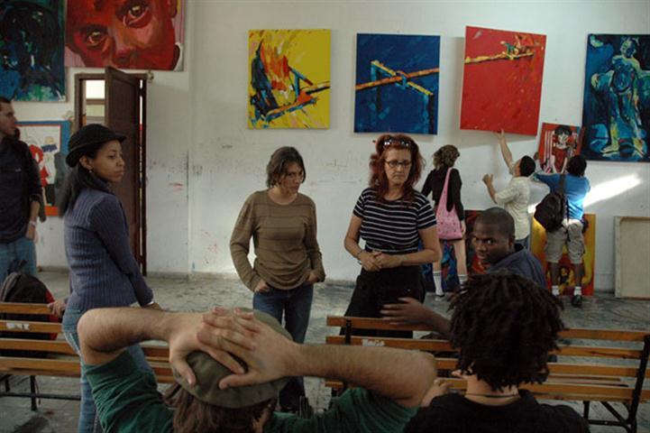 Rocío con alumnos de San Alejandro