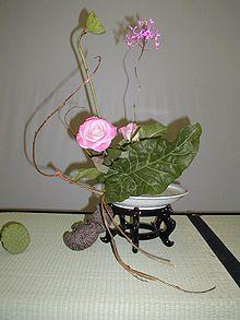 Tema 123. Arreglo floral de Ikebana