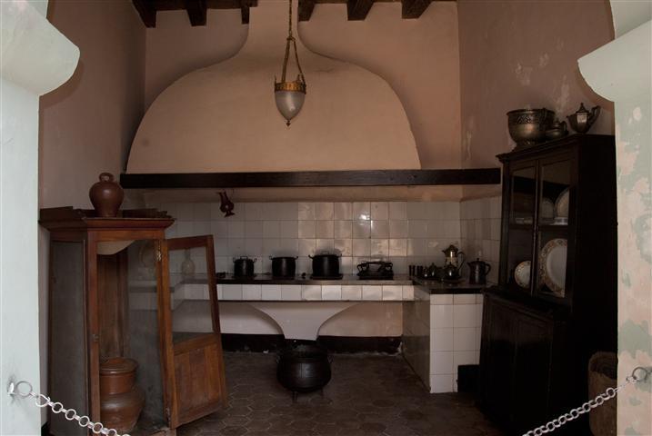 Vista de la cocina original de la Casa Natal