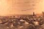 Grabado de Federico Mialhe que recrea el panorama desolador de la tormenta de San Francisco de Borja, 1846