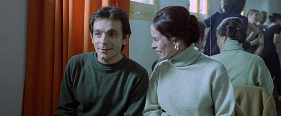 José Luis gómez y Geraldine Chaplin en Los Ojos Vendados