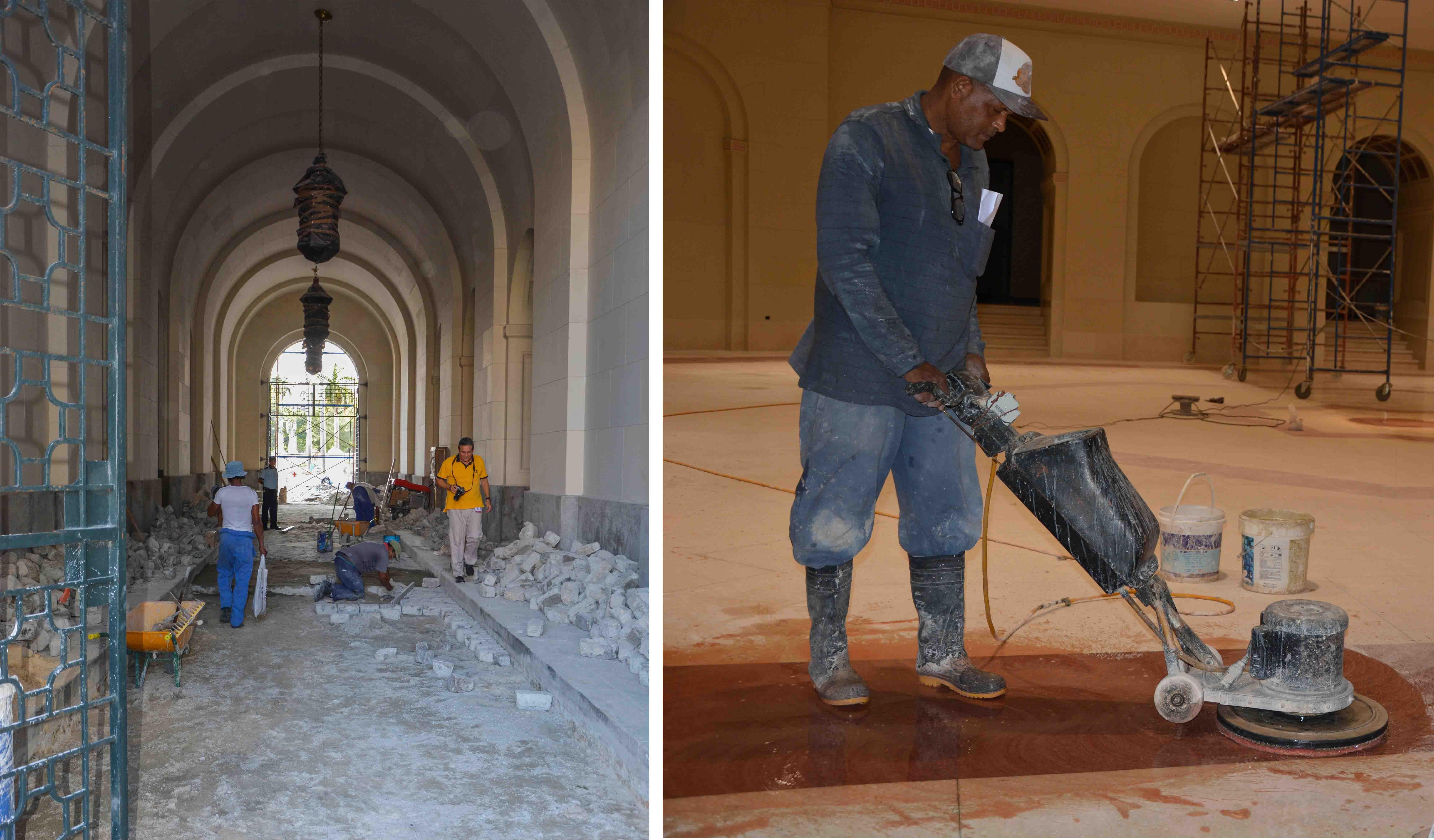 10. Obras en los suelos de la entrada y de la Cripta en sí