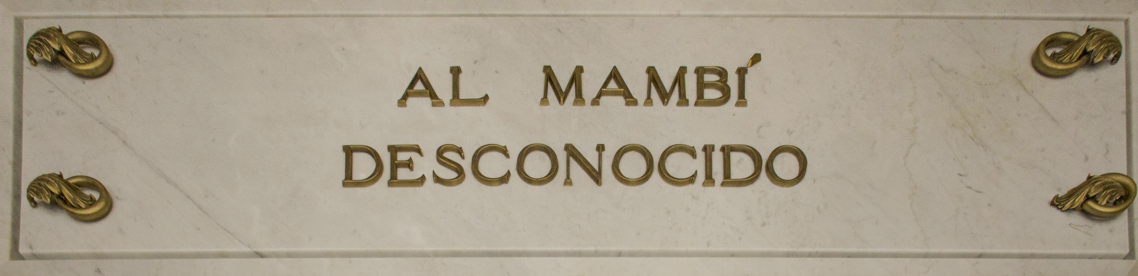 15. Inscripción del sarcófago de mármol.