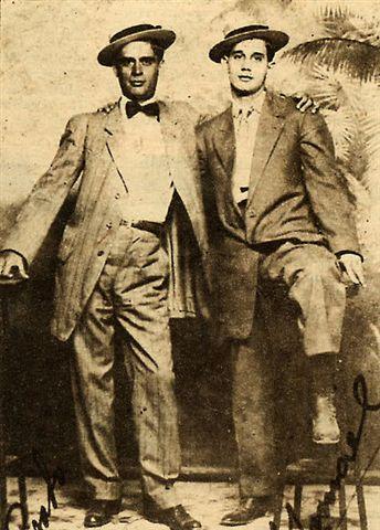 Yarini y su amigo José Basterrechea