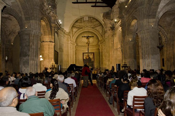 Sala de conciertos de la Basílica Menor del Convento de San Francisco de Asís