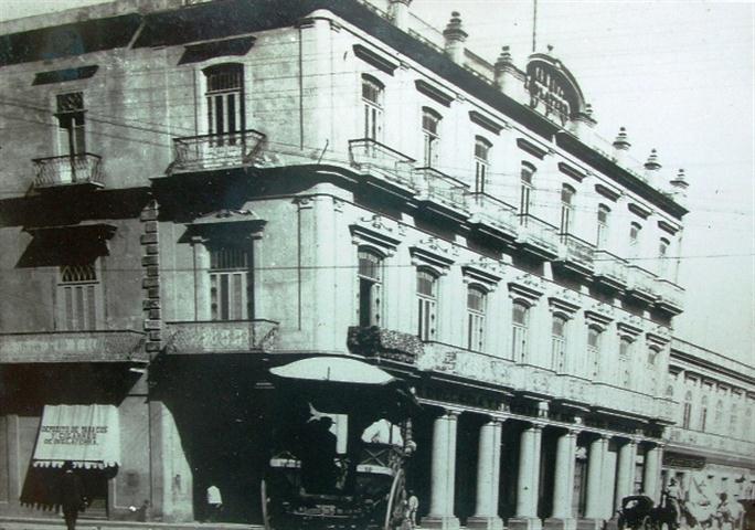 Hotel Inglaterra a finales del siglo XIX
