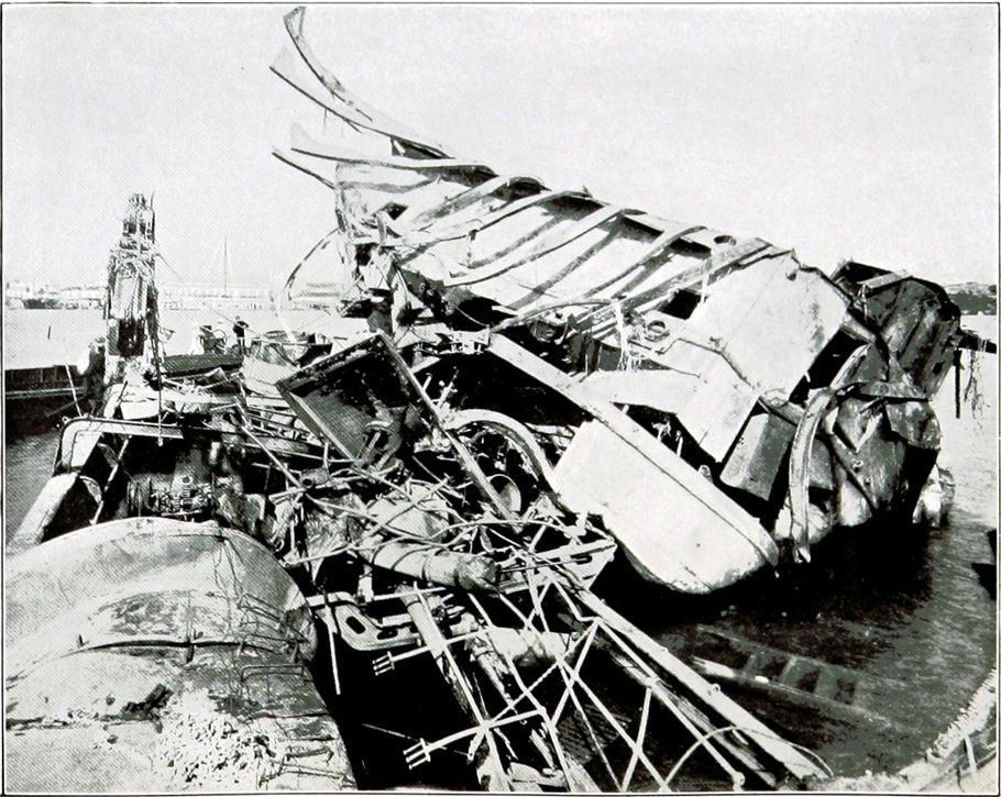 Maine después de la explosión
