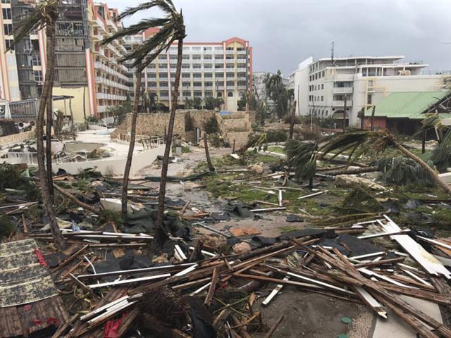Un área de La Habana después del paso de Irma