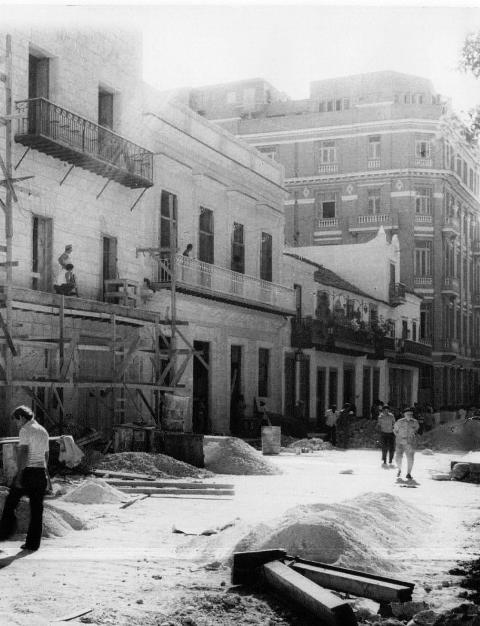Reanimación de la calle Obsipo, años '80