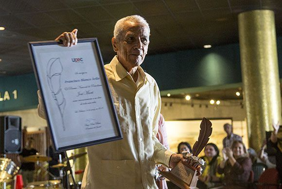 Francisco Blanco, Premio Jose Marti. Foto: Ismael Francisco/ Cubadebate