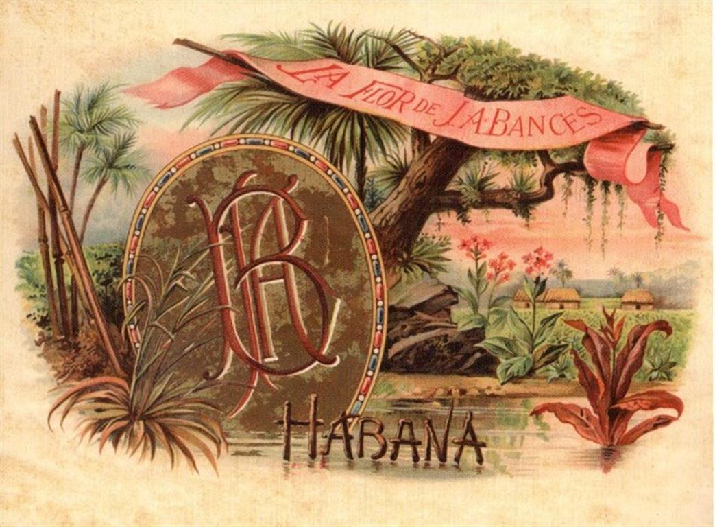 Marca de tabaco de J.A.Bances, producida en la década de 1880 en la fábrica Partagás