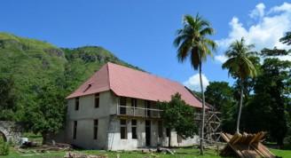 """La antigua hacienda """"Fraternidad"""" es uno de los 171 asentamientos que forman parte del Paisaje Arqueológico de las Primeras Plantaciones de Café al Sudeste de Cuba. Foto: Edgar Brielo Maranillo Sierra."""